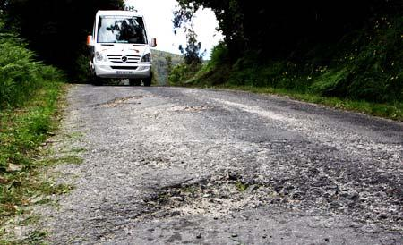 carreteras mal estado