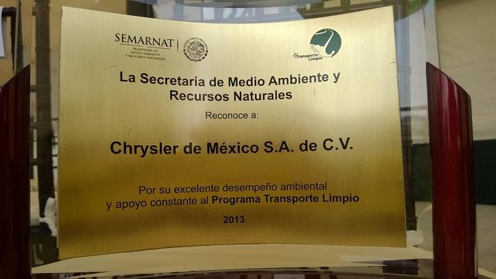 Chrysler recibe reconocimiento por su labor medioambiental