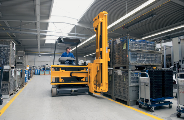 Los sistemas de navegación aumentan la productividad en almacenes
