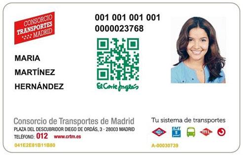 Madrid insertar publicidad en tarjetas de transporte for Oficina del consorcio de transportes de madrid