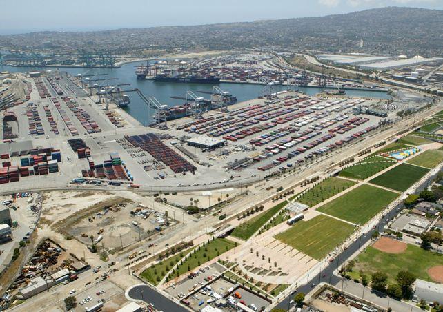 Huelga de camioneros en el Puerto de Los Ángeles