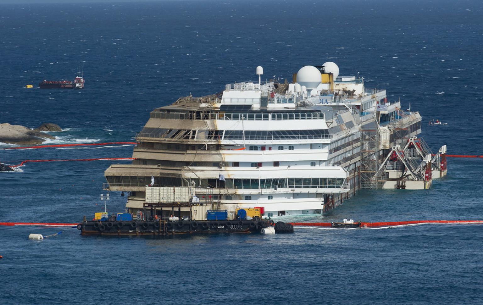 Se retrasa el desmantelamiento del Costa Concordia