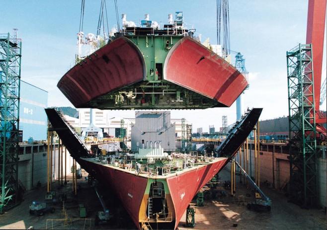 Desciende la construcción naval en Corea del Sur