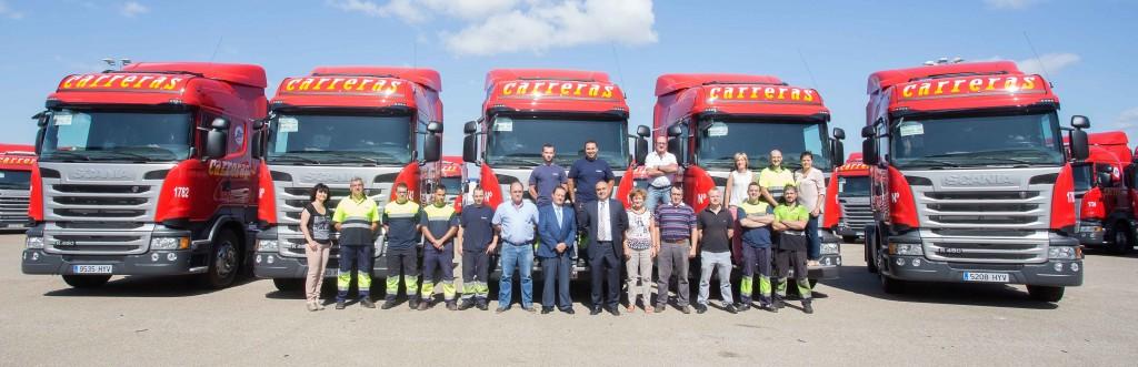 Carreras reduce emisiones con 50 nuevos camiones Scania Euro 6