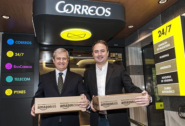Alianza entre Amazon y Correos