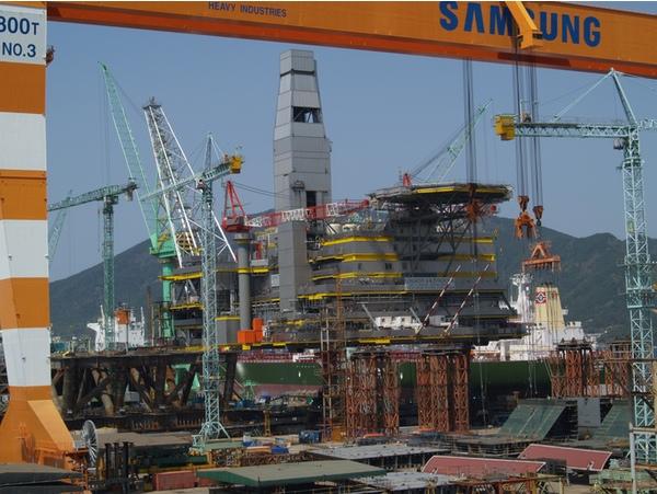 El astillero de Samsung gana seis nuevas órdenes