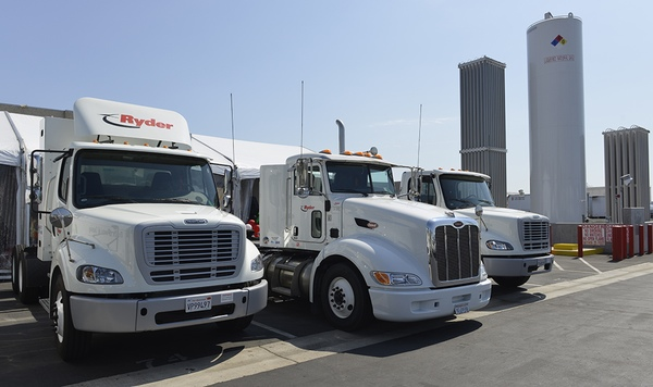 Natural gas trucks offered by Ryder System .. Terry Townsend photo