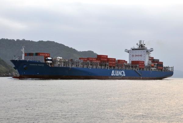Alianca Navegacao bautiza su nuevo buque