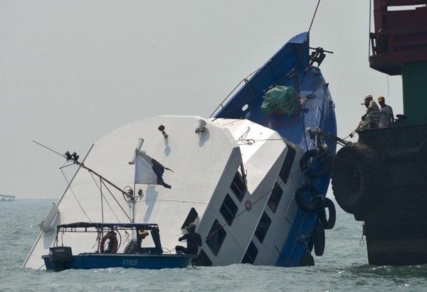 Hong Kong quiere mantener el secreto del accidente del ferry en Lamma