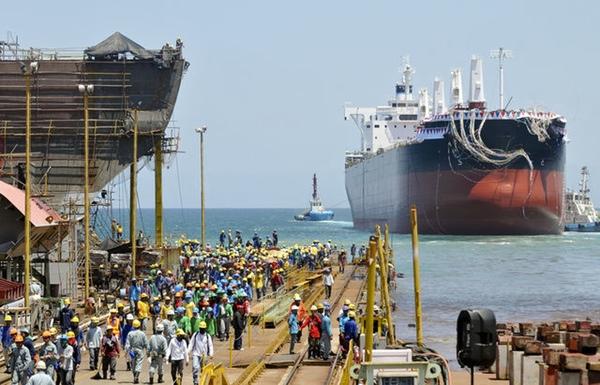 Tsuneishi Holdings Corporation utiliza drones en la construcción de buques
