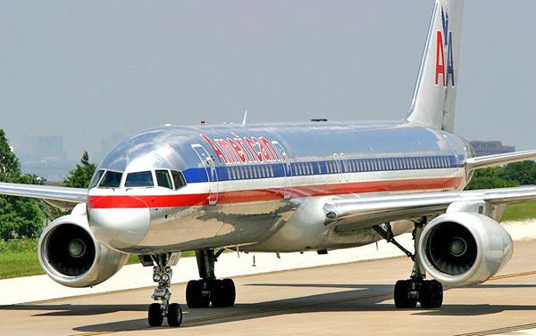 avion de American Airlines en tierra