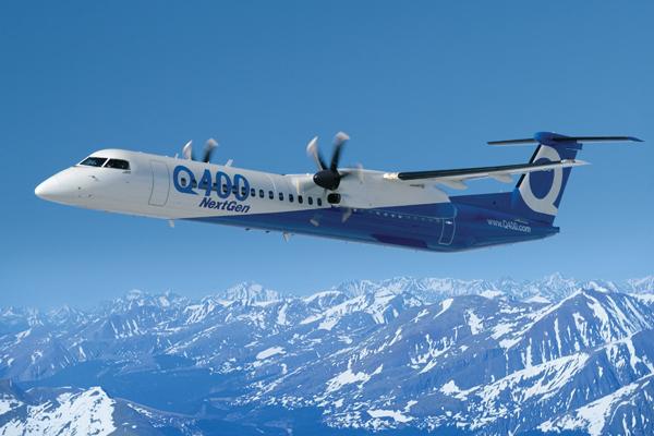 bombardier Q400 en el aire