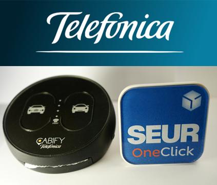 telefonica desarrolla botones inteligentes con Seur y Cabify