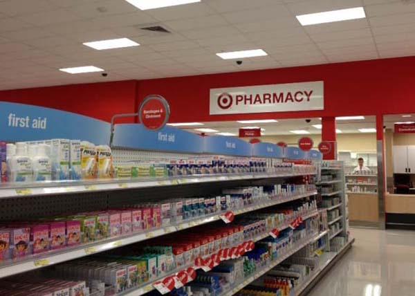 vista interior a farmacia de Target