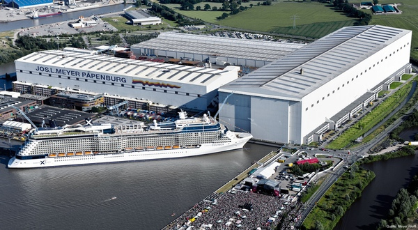 Meyer Werft invierte en el astillero de Papenburg