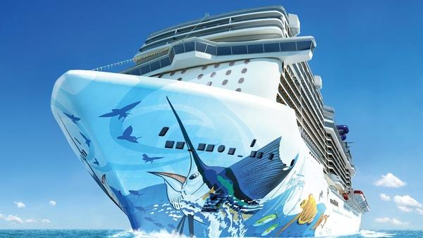 Norwegian Cruise Line presenta el casco de su nuevo buque