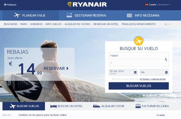 Ryanair web
