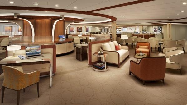 Seabourn Cruise Line presenta el diseño interior de su nuevo buque