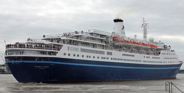 Buque Marco Polo visita puerto de Quebec