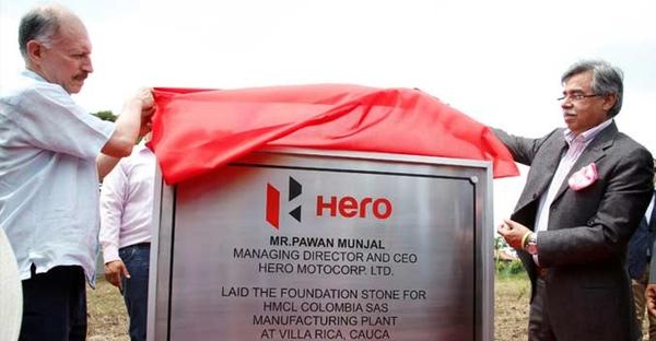 Hero MotoCorp inaugura planta en Colombia