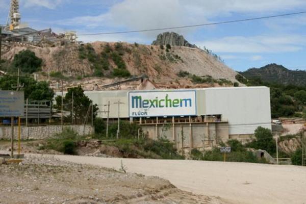 Mexichem lidera exportaciones de fluorita