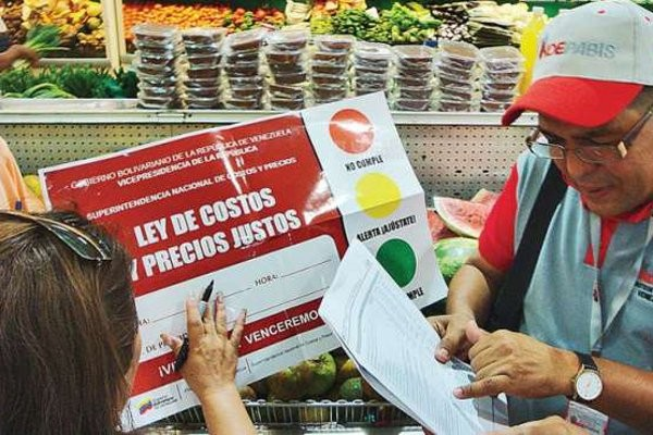 Gobierno venezolano fija el precio de las mercancias