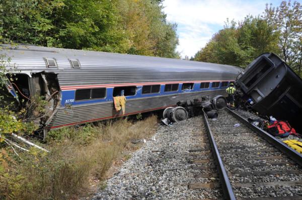 tren descarrilado en vermont