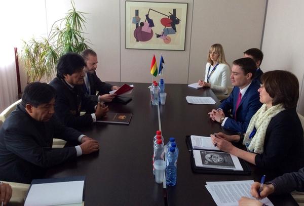 Bolivia afianza relaciones comerciales con Europa