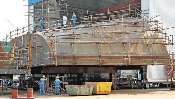 China reajusta infraestructuras de construccion naval