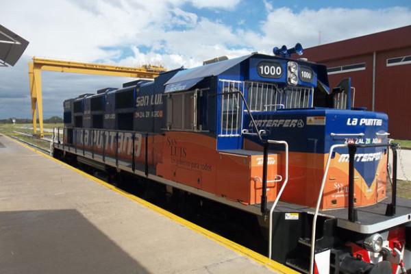 San Luis recibe nuevos vagones de carga