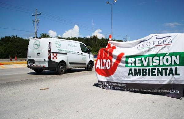 Profepa interviene 30 camiones por mal manejo de mercancia