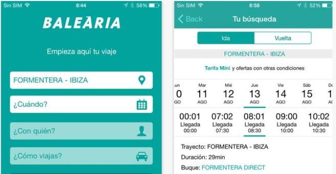 Baleària estrena app para facilitar reservas y ventas 'online'