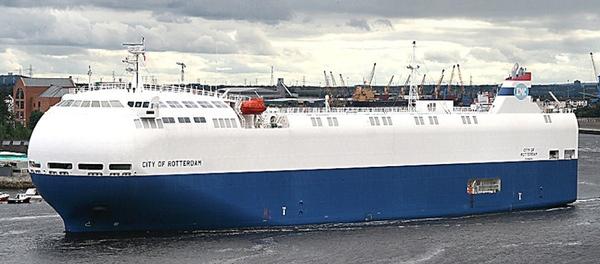 City of Rotterdam llega a puerto para su reparacion