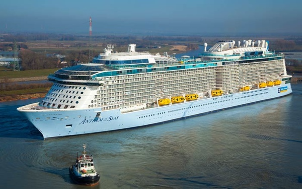 Anthem of the Seas vuelve a navegar tras las reparaciones