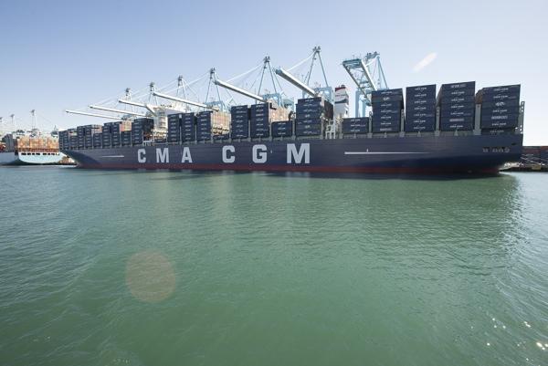 Buque de CMA CGM es el mas grande en llegar a puertos estadounidenses