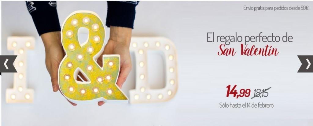 , ha anunciado oferta en letras con luces que se pueden decorar con