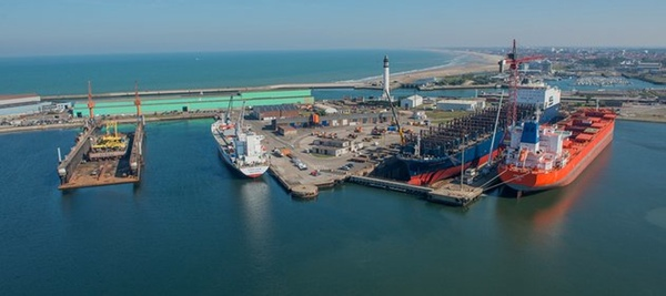 Damen Shiprepair Dunkerque prepara los ferris de DFDS