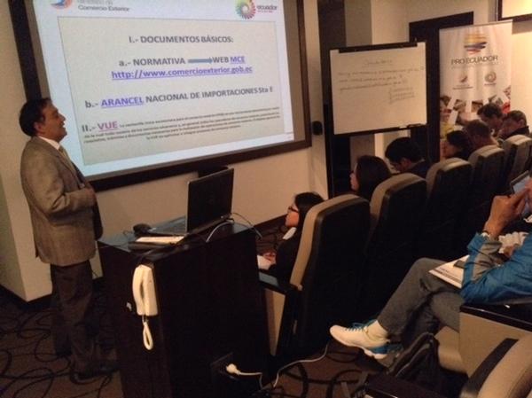 Ecuador forma a sus exportadores para rueda de negocios internacional
