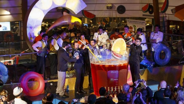 Costa Favolosa ha sido escenario de un record Guinness