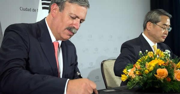 Mexico incrementa relacion comercial con Corea del Sur