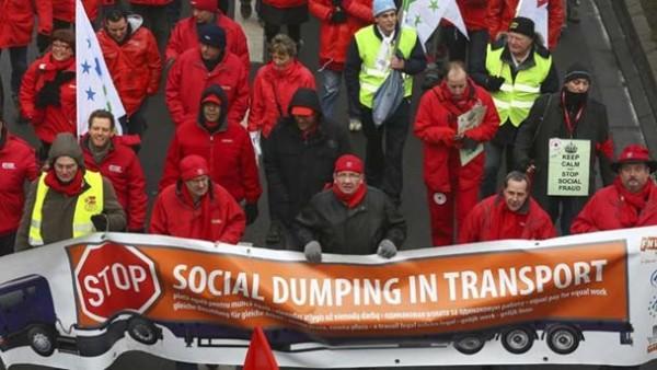 Protestas contra el dumping