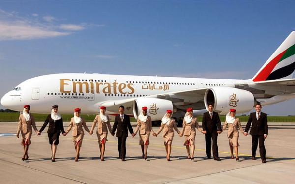 Tripulación avión de Emirates