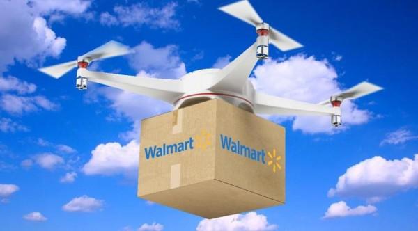 Dron de Walmart en pleno envío