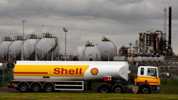 camión de transporte Shell