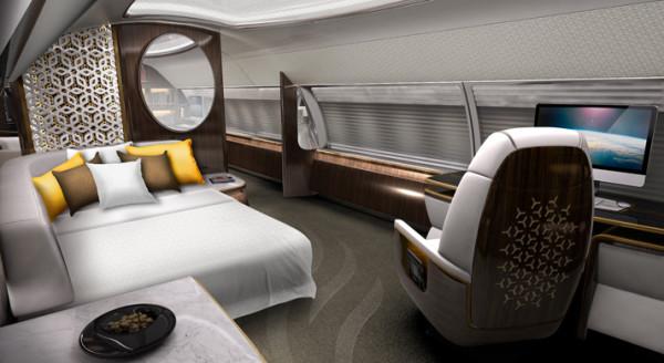 Avión Emirates lujo