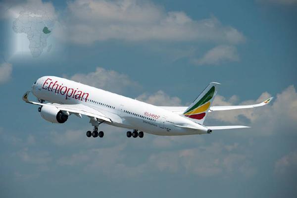 Ethiopian Airlines suma a su flota el primer Airbus A350 de África