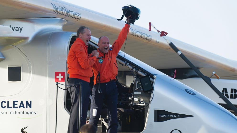 Pilotos del Solar Impulse II