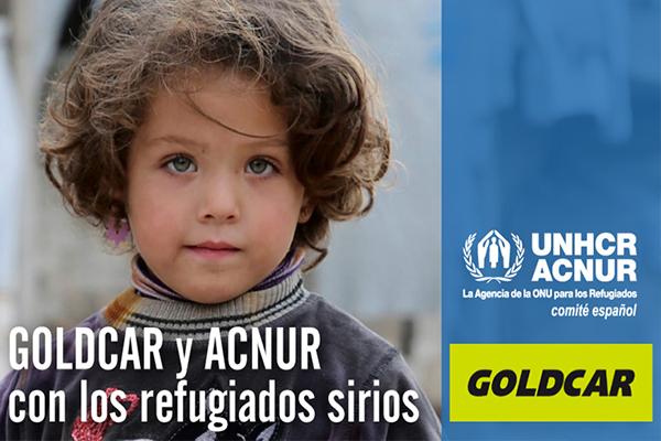 Goldcar colabora con ACNUR recaudando fondos para ayudar a los refugiados