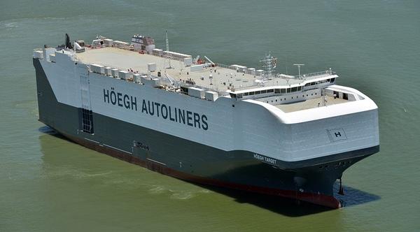 Mexico recibe buque mas grande del mundo de transporte de automoviles