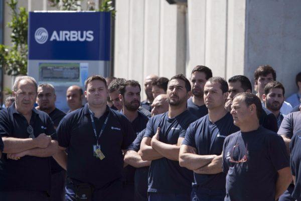 Trabajadores en la sede de Airbus